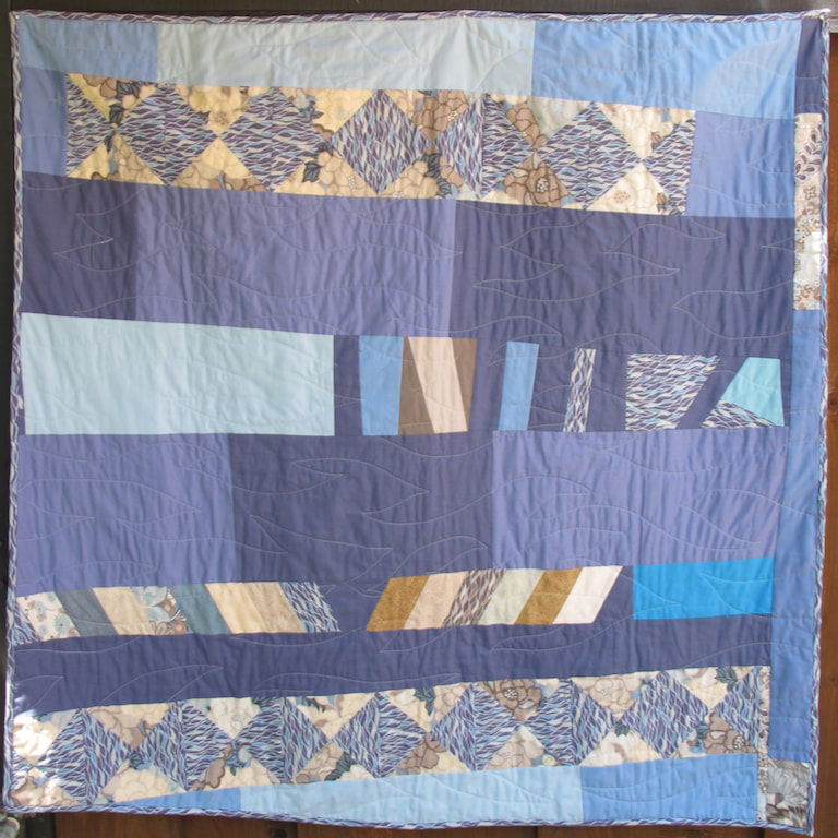 back of Untitled by Carol Van Zandt, quilted by Terri Carpenter