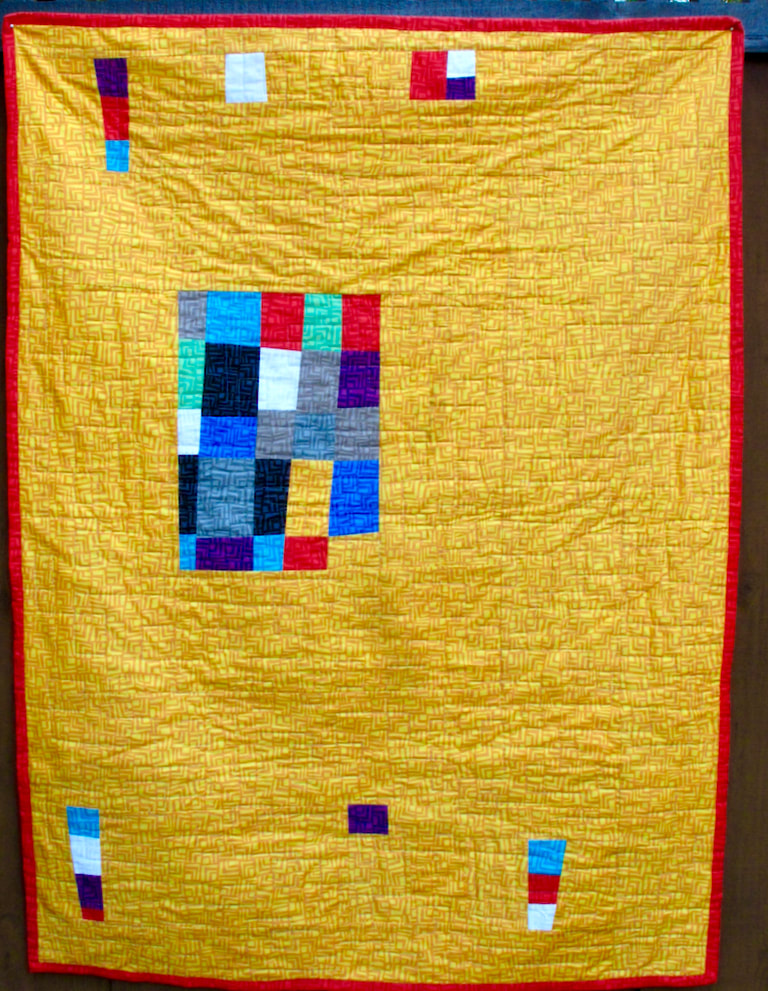 back of Improv by Carol Van Zandt, quilted Terri Carpenter