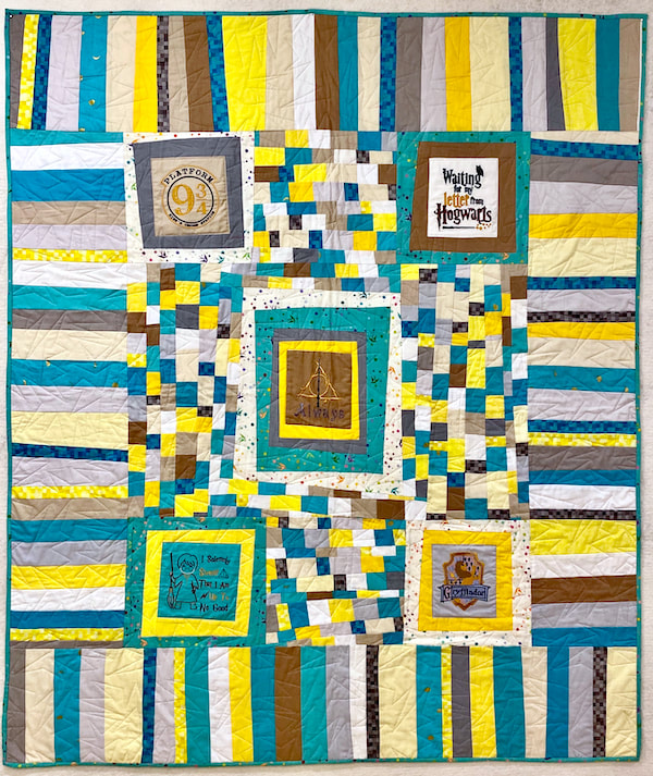 For Charlie and Sarah by Carol Van Zandt, quilted by Hello Stitch