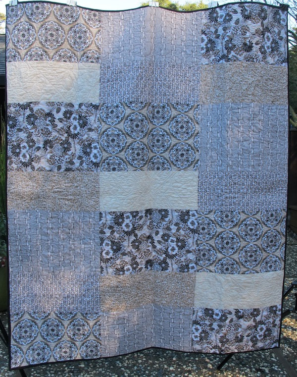 back of For Lauren by Carol Van Zandt, quilted by Alethea Ballard