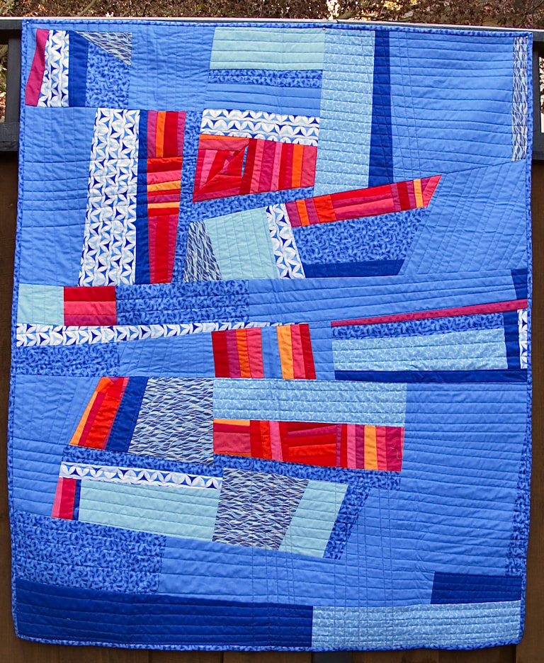 Crossover by Carol Van Zandt, quilted by Terri Carpenter